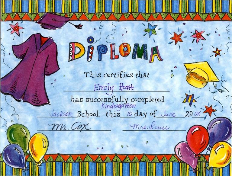 Kindergarten diploma 2008
